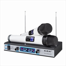 WEISRE PGX58 VHF Dual Wireless Microphone Stereo Mic System Fr Karaoke