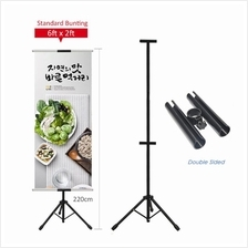 (Ready Stock)T Bunting Banner Double Sided Tripod Display Stand
