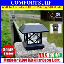 MaxSolar SL011 Solar Powered LED Light Gate Pillar Fence Garden Lamp