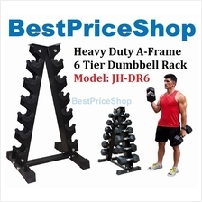 Heavy Duty A Frame Dumbbell Rack 6 Tier Premium Dumbbell Holder JH-DR6