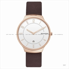 SKAGEN SKW6458 Men's Grenen Slim Interchangeable Leather Strap Brown