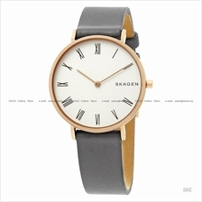 SKAGEN SKW2674 Women's Hald Slim 2-hand Leather Strap Grey