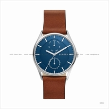 SKAGEN SKW6449 Men's Holst Day-Date Interchangeable Leather Blue Brown