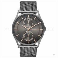 SKAGEN SKW6180 Men's Holst Day-Date Mesh Bracelet Grey