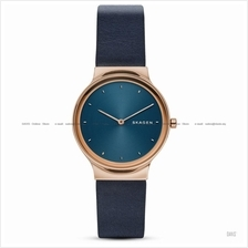 SKAGEN SKW2706 Women's Freja 2-hand 3D Prism Index Leather Strap Navy