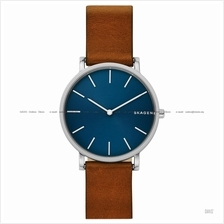 SKAGEN SKW6446 Men's Hagen Slim Interchangeable Leather Blue Brown