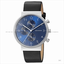 SKAGEN SKW6417 Men's Ancher Chronograph Interchangeable Leather Blue