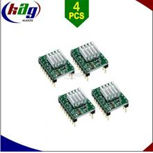 4pcs Green A4988 Stepper Motor Driver Module with Heatsink