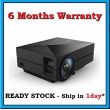 [ 6 Months Warranty ] GM60 Home Theater HDMI SVGA Mini LED Projector