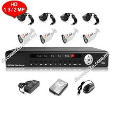 CCTV 4-CH HD DVR with IR BULLET Camera Package (W1-0D4L)