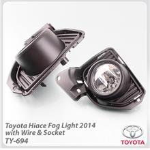 Fog Light With Wire & Socket For Toyota Hiace 2014 Onward