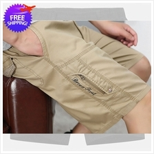 Men Cotton Knee Length Casual Wear Short Pants