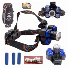 M-CLASS 60000LM 5x XM-L T6 LED Headlamp Headlight Flashlight Head Ligh