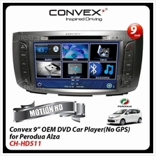Convex - 9 Inch OEM DVD Car Player (No GPS) For Perodua Alza - CH-HD51