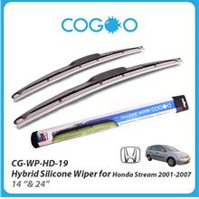 Cogoo Hybrid Silicone Wiper For Honda Stream 2001-2007 14' & 24'