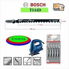 BOSCH T144D 5 piece/pack 100MM. 6 TPI Speed for Wood T-Shank Jig Saw B