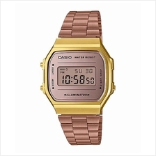 CASIO DIGITAL VINTAGE A168WECM-5 BROWN GOLD Mirror finishing face