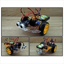 DIY 2WD Arduino Kit Obstacle Avoiding Robot Arduino Uno Ultrasonic L298N