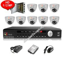 CCTV 8-CH HD DVR with IR Dome Camera Package (W1-8D0L)