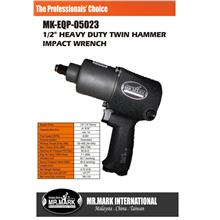Mr.Mark 1/2' Heavy Duty Twin Hammer Air Impact Wrench