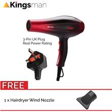 [Kingsman] Professional 2000W Saloon Hair Dryer with M'sia 3 Pin Plug