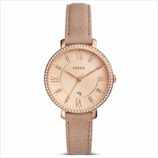 Fossil ES4292 Women Jacqueline Three-Hand Date Sand Leather Watch