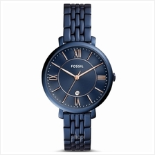 Fossil ES4094 Women Jacqueline Three-Hand Date Blue Stainless Steel Watch