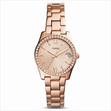Fossil ES4318 Women Scarlette Three-Hand Date Rose Gold-Tone Stainlese Steel W