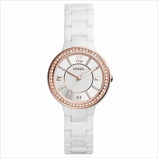 Fossil CE1082 Women Virginia Three-Hand White Ceramic Watch