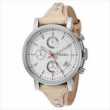 Fossil ES4229 Women Original Boyfriend Chronograph Sand Leather Watch