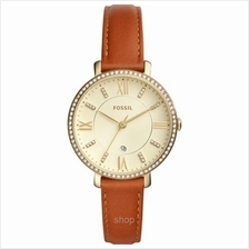 Fossil ES4293 Women Jacqueline Three-Hand Date Luggage Leather Watch