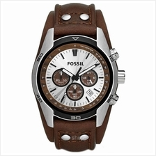 Fossil CH2565 Men Coachman Chronograph Brown Leather Watch)