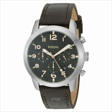 Fossil Men's Pilot 54 Brown Watch - FS5143)