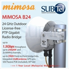B24 Mimosa Networks 24GHz 1.5Gbps 3km Malaysia vs AirFiber AF24
