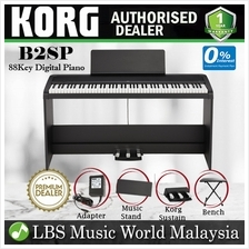 Korg B1SP 88 Key Digital Piano Black With Bench Headphone Electric (B1