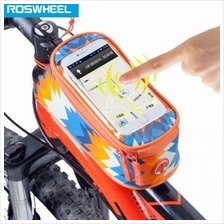 ROSWHEEL 4.8 INCH TOUCH SCREEN BICYCLE FRONT TUBE PHONE BAG HOLDER HAN