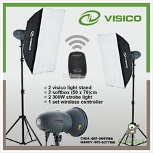 VISICO VT-300 Soft box 2 x Studio Lighting Kit set 300w