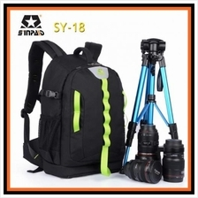 Sinpaid SY-18 Dslr SLR Camera Backpack Bag Case Travel Laptop Bag