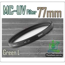 Green.L 77mm MC-UV Multi Coated Ultra-Violet Filter