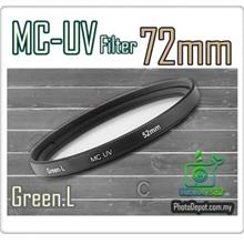 Green.L 72mm MC-UV Multi Coated Ultra-Violet Filter
