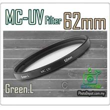 Green.L 62mm MC-UV Multi Coated Ultra-Violet Filter