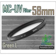 Green.L 58mm MC-UV Multi Coated Ultra-Violet Filter