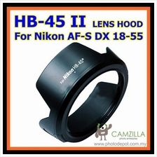 Flower HB-45 II lens hood For Nikon AF-S DX NIKKOR 18-55mm f/3.5-5.6 G