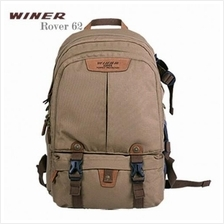 Winer Rover 62 DSLR Camera Backpack - Brown (With Rain Cover)