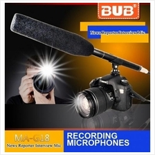 Bub MA-G18 Interview Microphone Mic Reporter Video DSLR Mic