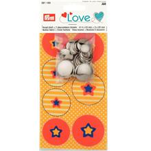 Love Button Fabric Star + 7 Buttons