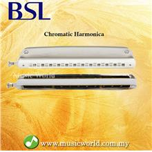 BSL Golden Cup 24 Hole 48 Tone Chromatic Harmonica C Key Stainless Ste