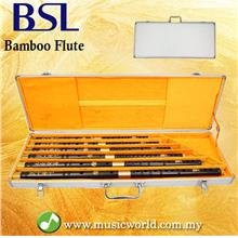 BSL 6 Piece Chinese Bamboo Flute Set Professional Key C D E F G A With