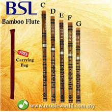 BSL Chinese Flute Bamboo Flute Professional Series With Jade Tip C D E