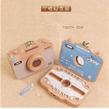 Camera Design Wood Baby Girl Boy Tooth Organizer Box Save